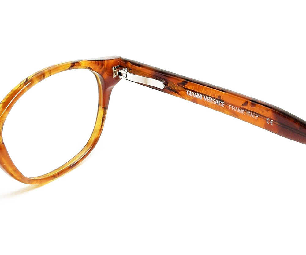 Gianni Versace Eyeglasses V53 col. A08 Brown Tortoise 48-19 Made in Italy - Eyeqglass