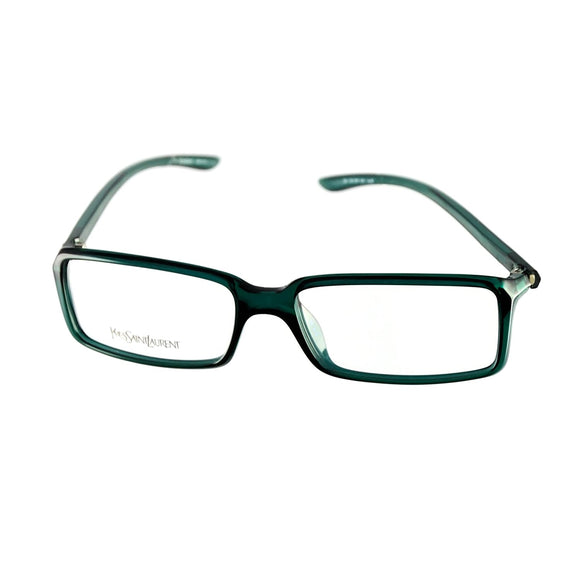 Yves Saint Laurent Eyeglasses YSL 2101 8H5 Dark Green 54-15-130 Made in Italy - Eyeqglass