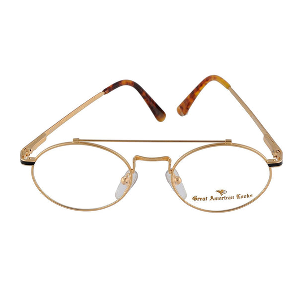 Great American Looks GALO15U Gold Eyeglasses 938 52-20-150 - Eyeqglass