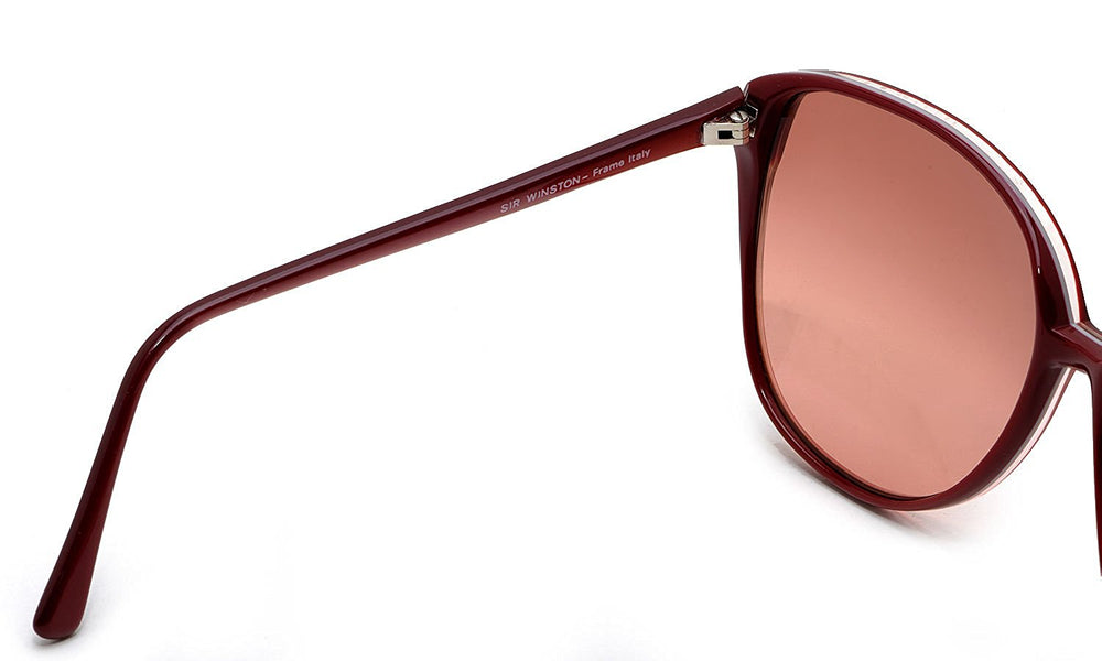 Sir Winston Sunglasses 4280 Burgundy 956 58-16 Made in Italy