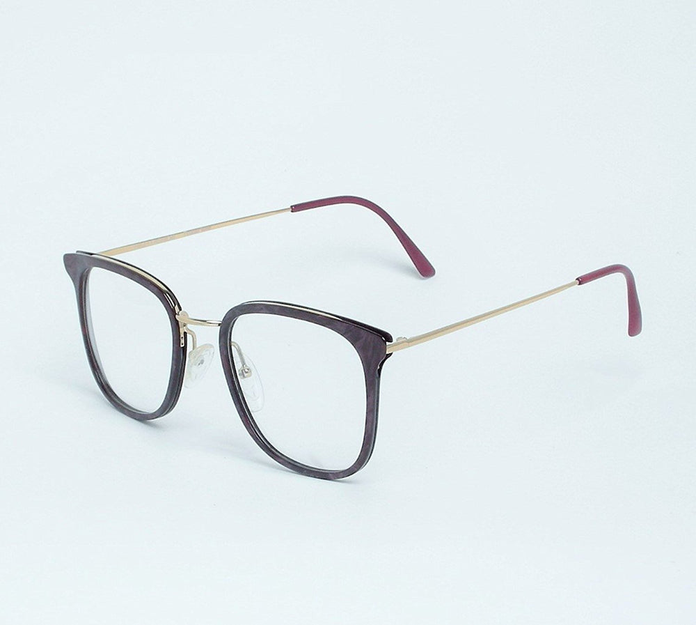High Fashion Eyeglasses 5001 Col 10 Dark Purple 54-18 Made in Italy
