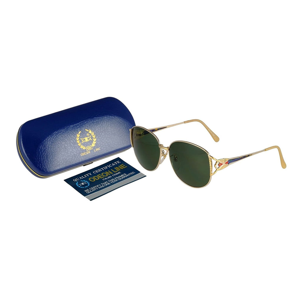 Odeon Line Sunglasses Mod. OL-2010 60-15-135 Green Made in Italy w/case