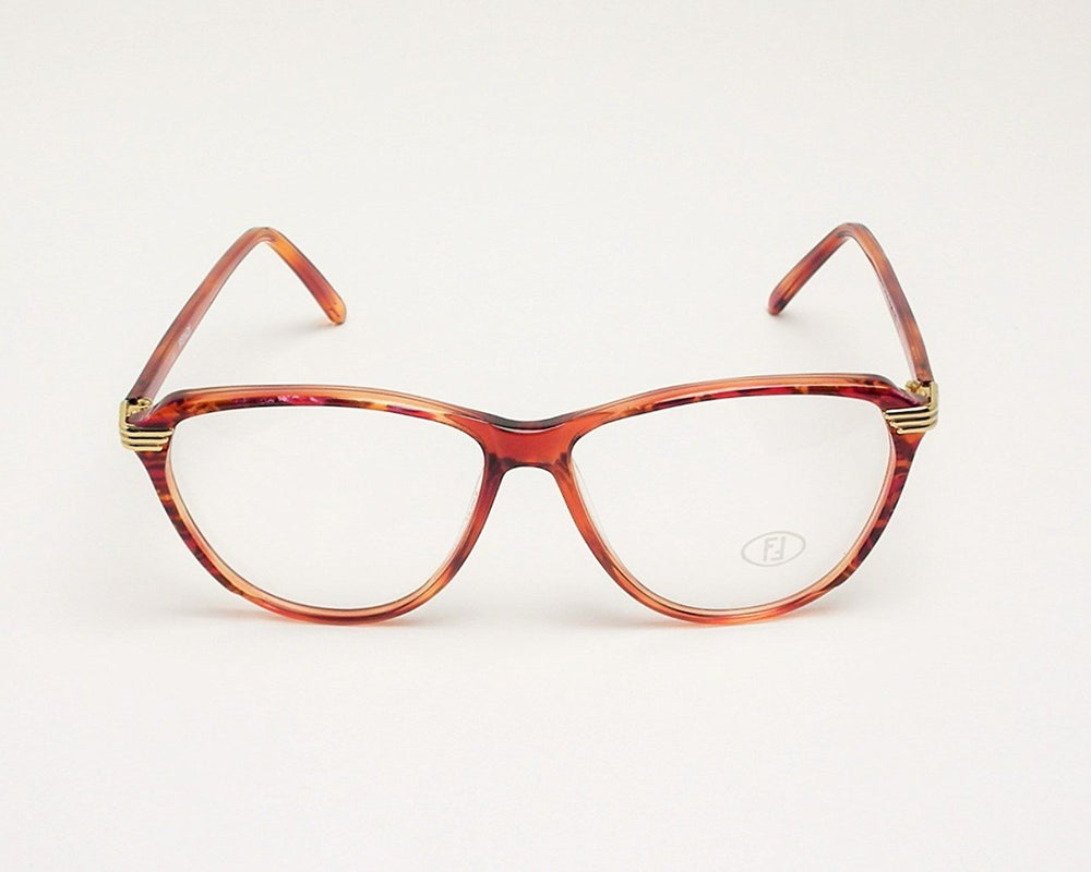 Fendi Eyeglasses FV 150 col 975 caramel 60-14-135 Made in Italy - Eyeqglass