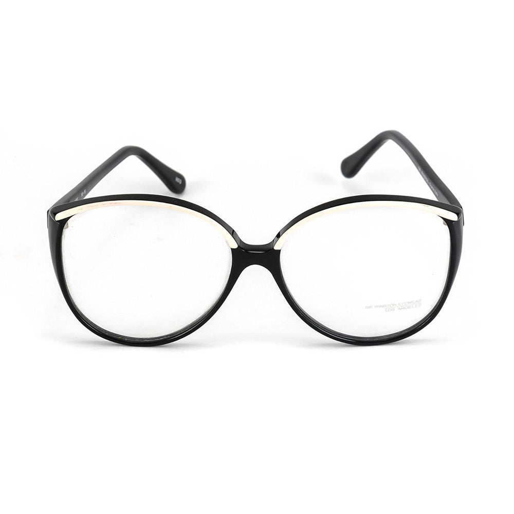 Sir Winston Eyeglasses 3491 Black White 1103 56-16 Made in Italy