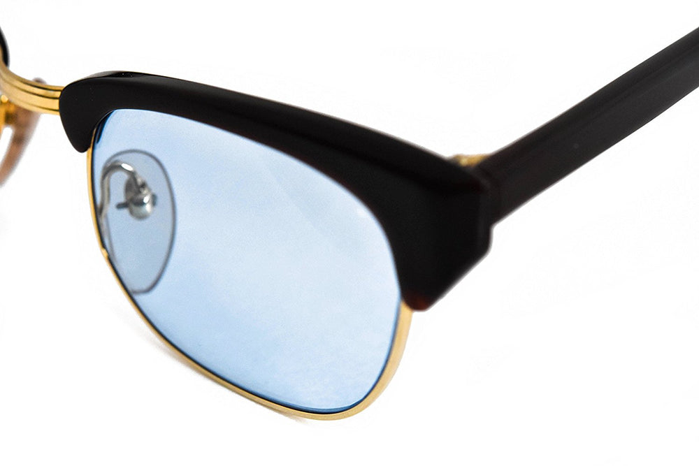 Roberto Elliott Sunglasses Frame SM-SETH Brown/Gold Sky Blue Lens 48-20-137 Made in Korea