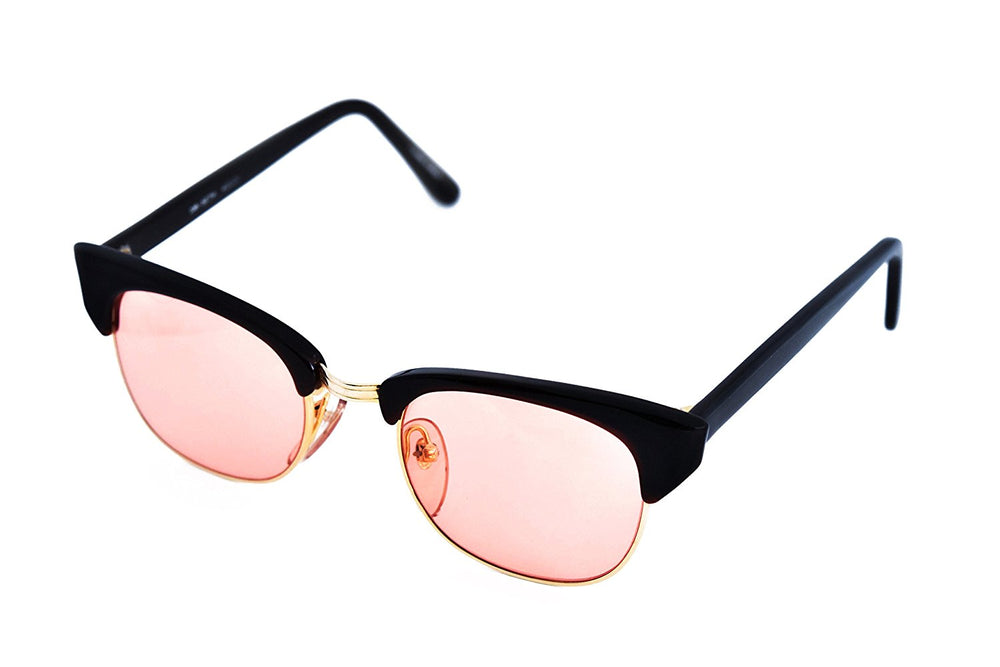 Roberto Elliott Sunglasses Frame SM-SETH Brown/Gold Rose Lens 48-20-137 Made in Korea - Eyeqglass
