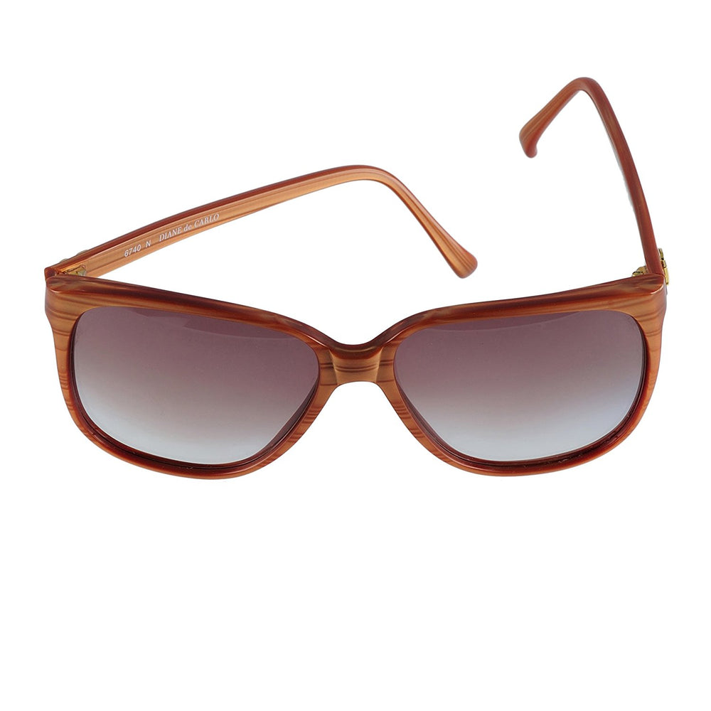 Diane de Carlo Sunglasses 6740 N Brown 57-15 Hand made in France