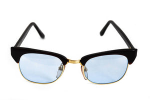 Roberto Elliott Sunglasses Frame SM-SETH Brown/Gold Sky Blue Lens 48-20-137 Made in Korea - Eyeqglass