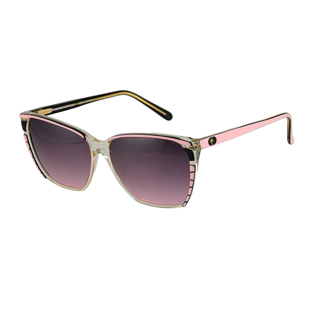 High Fashion Sunglasses Florence Design 628-2 Pink 57-16 Made in Italy - Eyeqglass