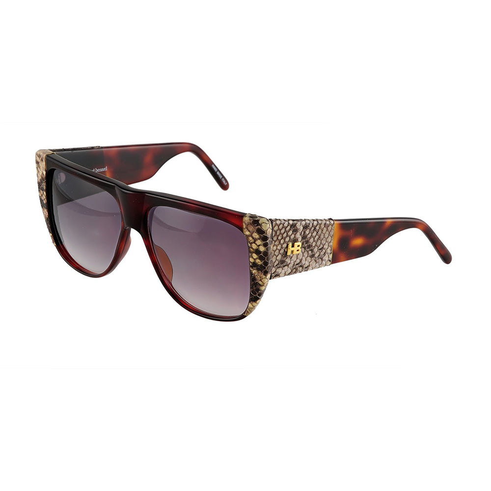 Harve Benard Sunglasses 11784 18PPN Brown Snake Skin Handmade in Italy