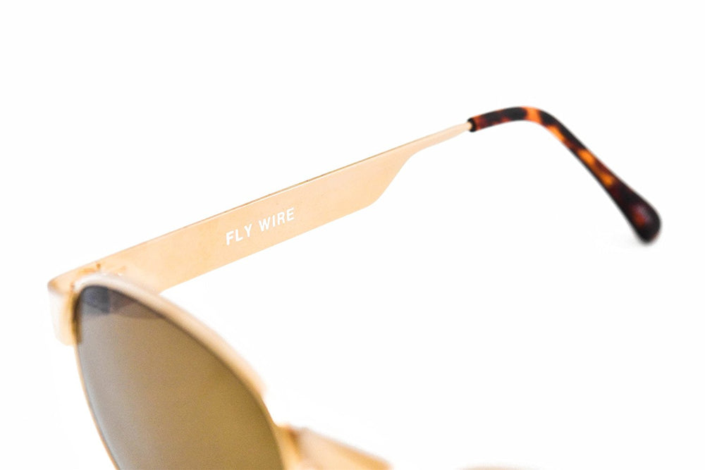 Black Flys Sunglasses Fly Wire Silver Metallic 48-22-141 Made in Japan