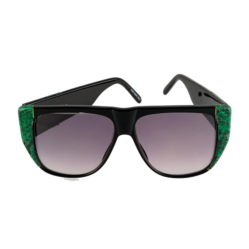 Harve Benard Sunglasses 11784 16PPV Green Snake Handmade in Italy