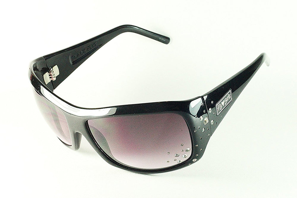 Black Flys Sunglasses SNOW FLY with Crystal Rhinestones Black