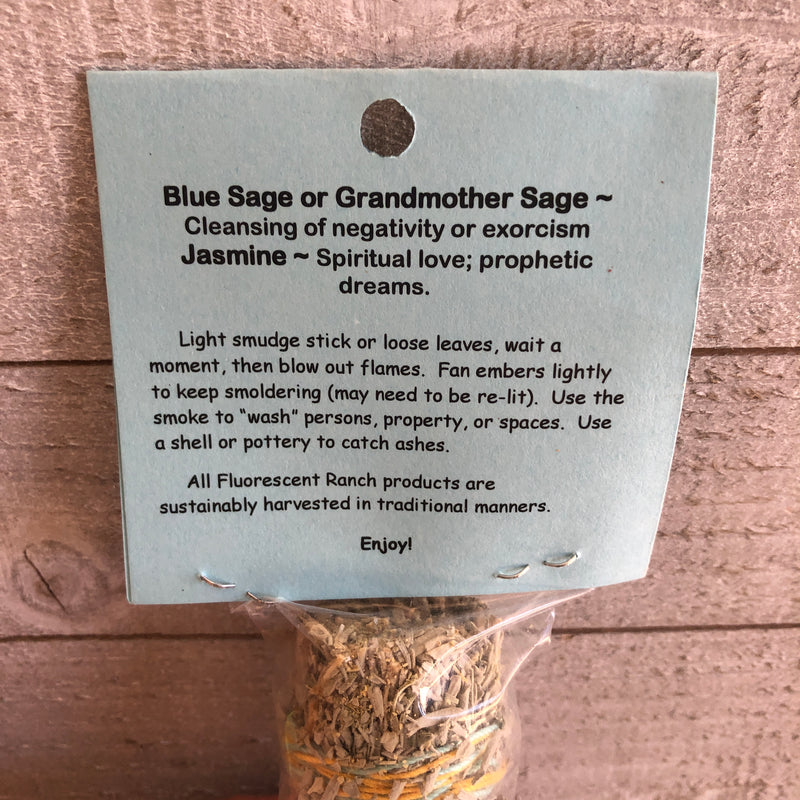 Jasmine and Blue Sage Smudge Stick