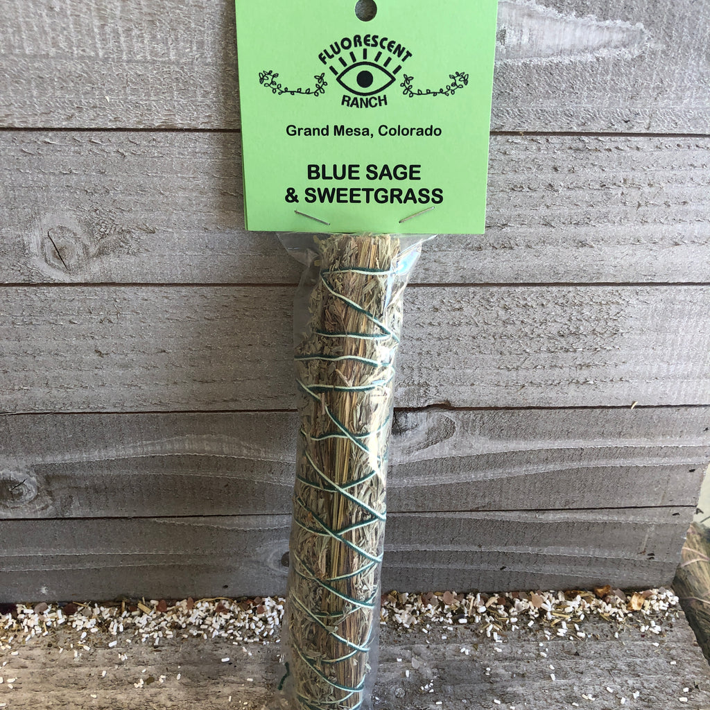 Sweet Grass and Blue Sage Smudge Stick