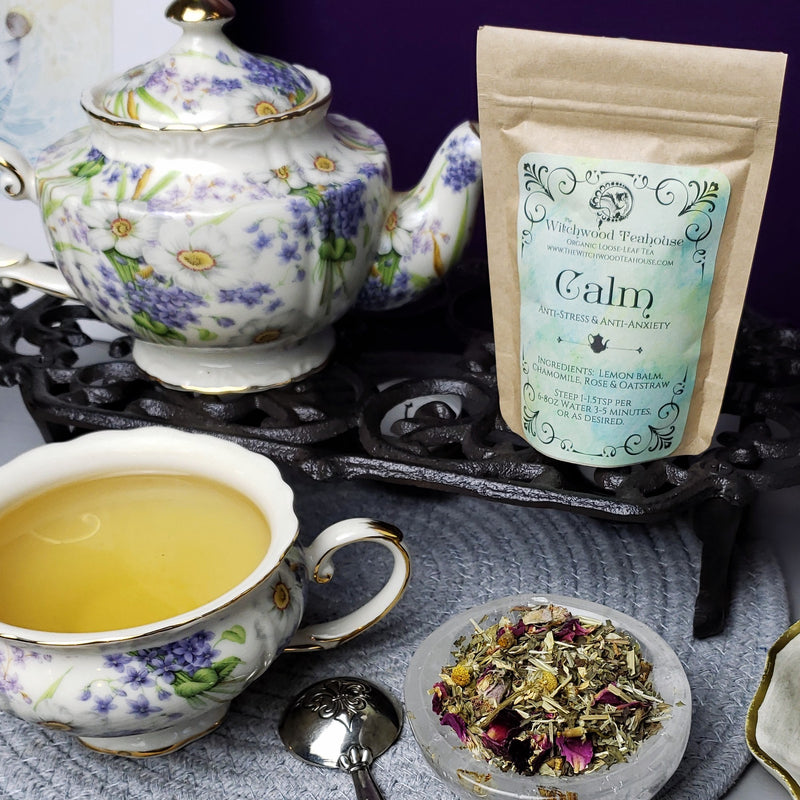 Calm Anti-Stress & Anti-Anxiety Caffeine Free Organic Loose-Leaf Tea