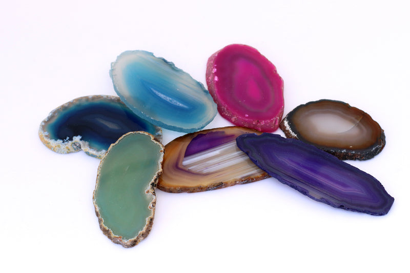 Dyed Agate Slices