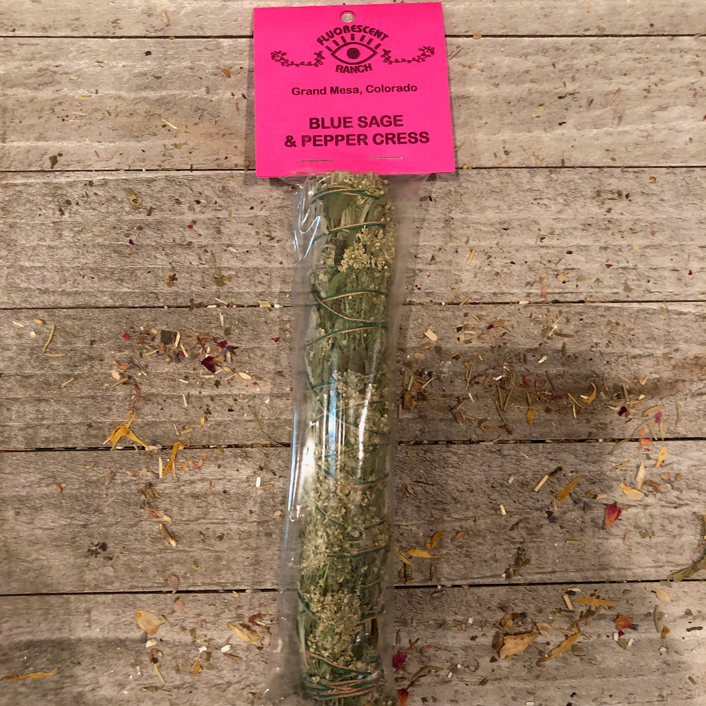 Pepper Cress and Blue Sage Smudge Stick