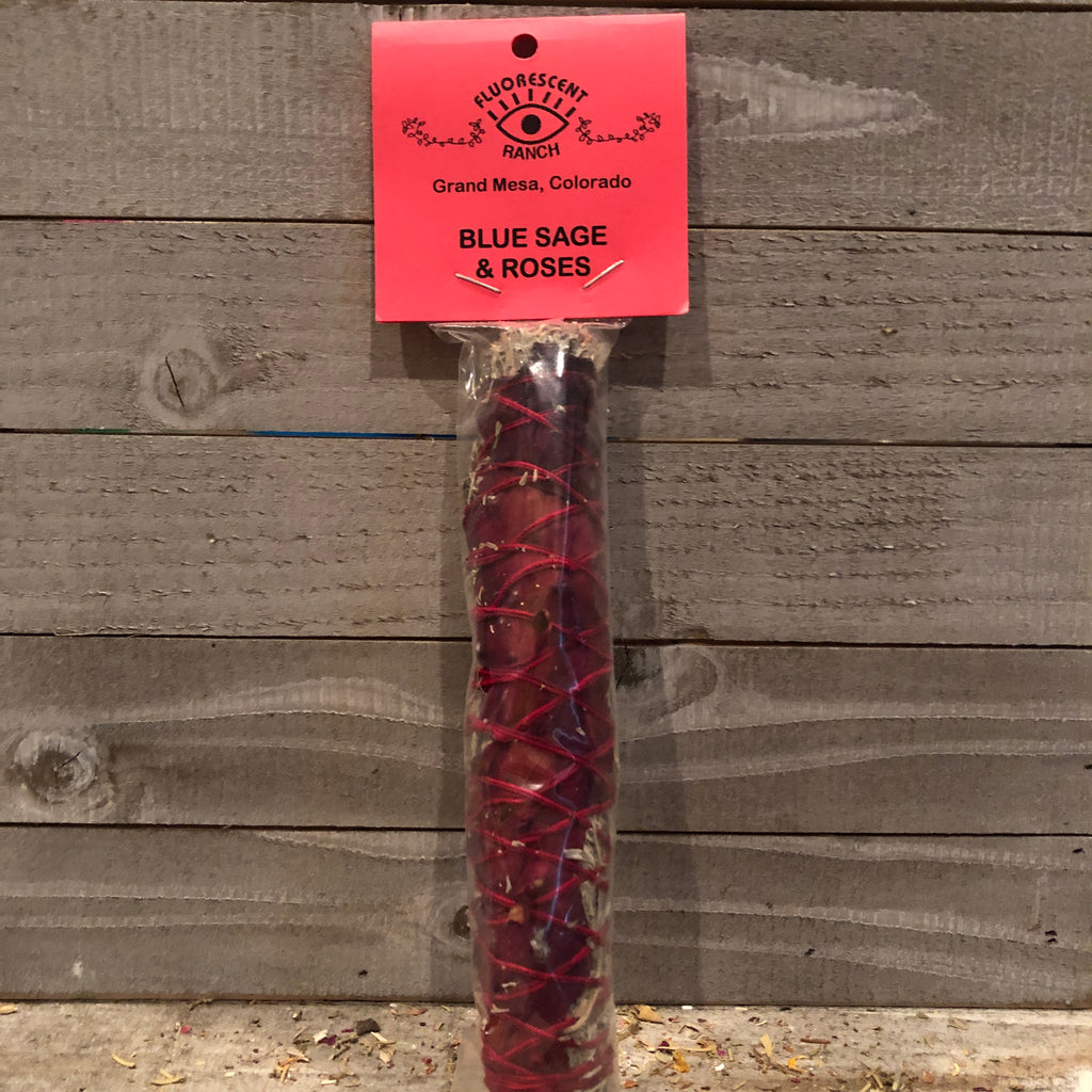 Roses and Blue Sage Smudge Stick