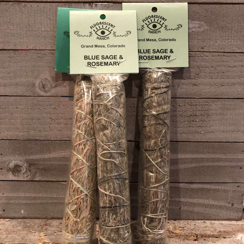 Blue Sage & Rosemary Smudge Stick