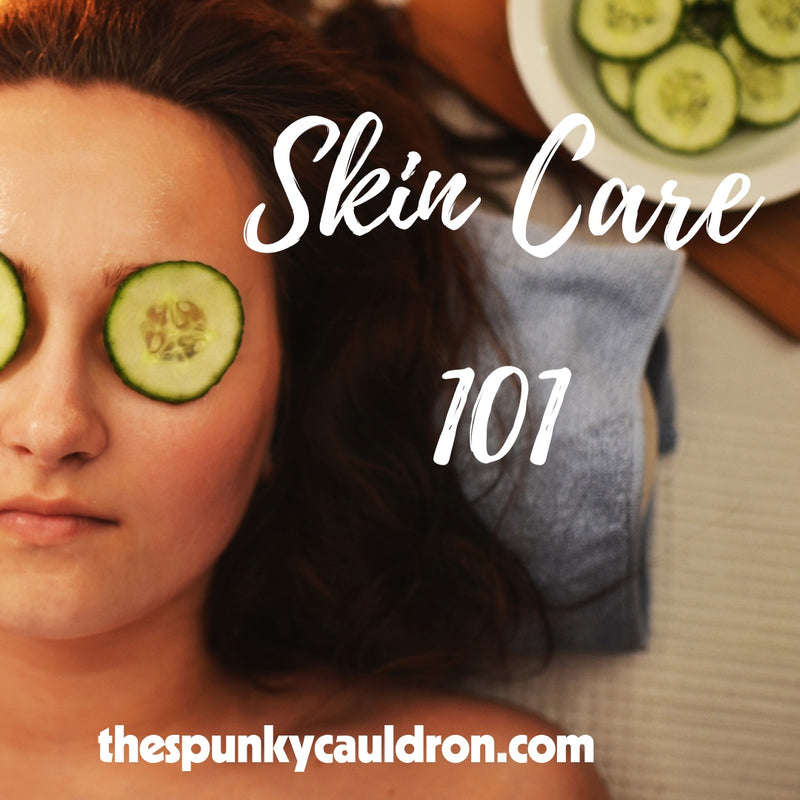 Skin Care 101 Class graphic, spunky cauldron