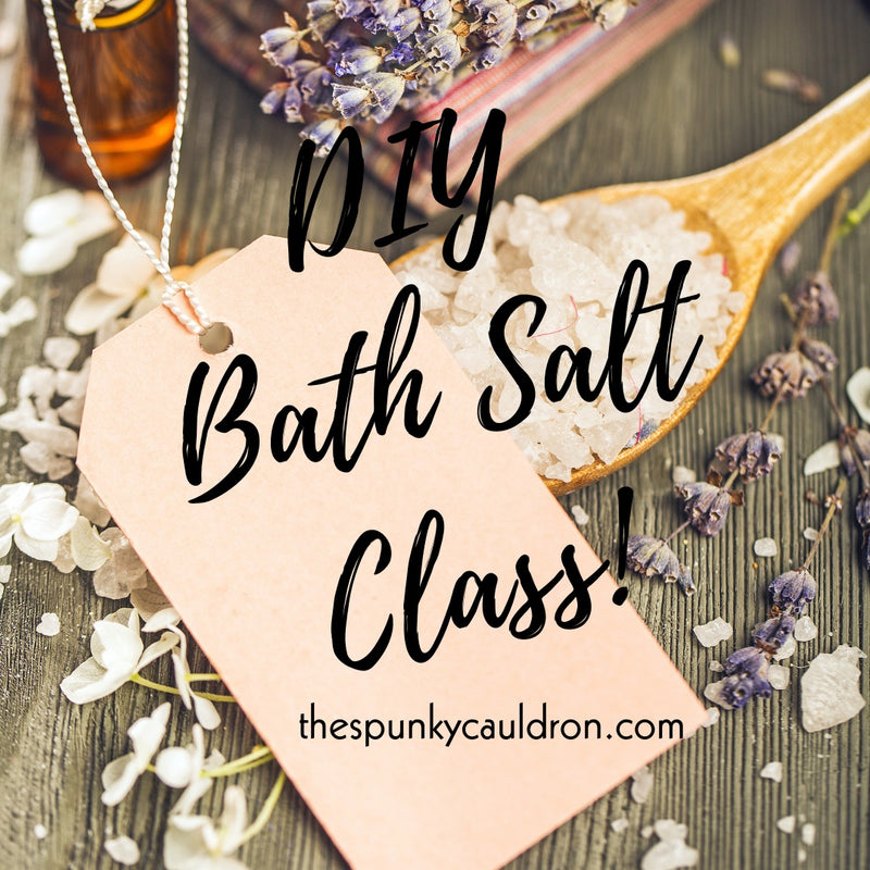 DIY Bath Salt Class Graphic, Spunky Cauldron