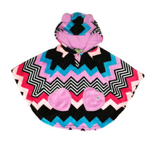 Chevron Fleece Poncho
