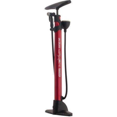 Action Jaxon PRO High Volume Red Bicycle Pump-Action Bicycle Parts-Voltaire Cycles of New Jersey