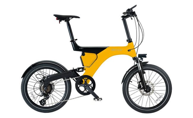 BESV PS1 250w Electric Bicycle - Yellow FLOOR MODEL-BESV-Voltaire Cycles of New Jersey
