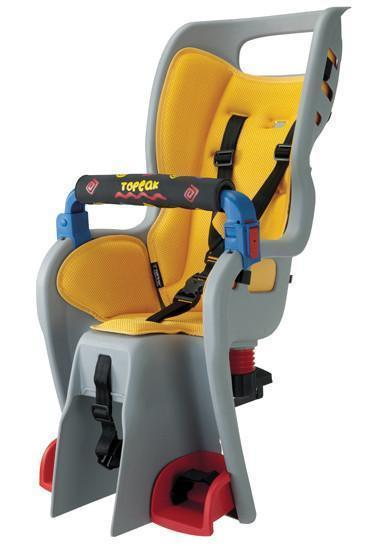 Topeak BabySeat II with Disc Compatible Rack: Yellow-Topeak-Voltaire Cycles of New Jersey