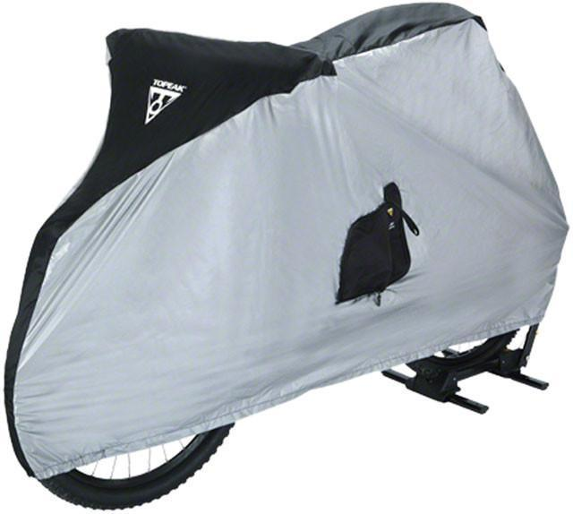 "Topeak Bike Cover for 26"" MTB Bikes White/Black-Topeak-Voltaire Cycles of New Jersey"