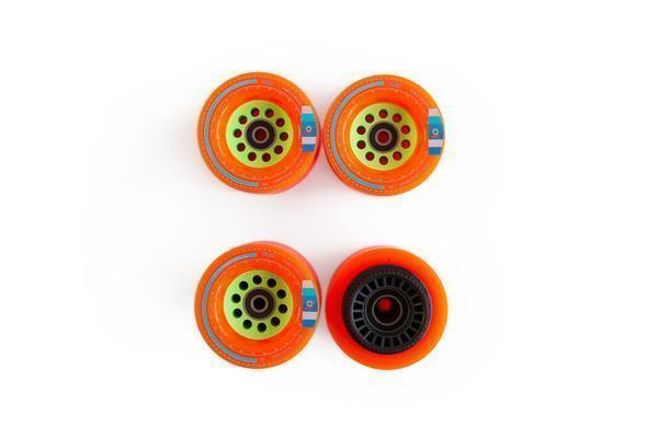 Boosted Board 2nd Gen Wheel Sets - Orange 80mm-Boosted-Voltaire Cycles of New Jersey