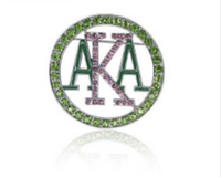 "Bling  ""alpha kappa alpha"" AKA Lapel Pin"