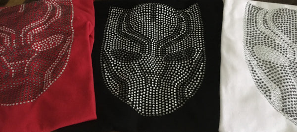 Black Panther LUXURY RHINESTONE T-shirt (FREE SHIPPING!)