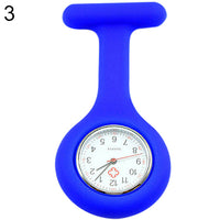 Cute Silicone Nurse Watch Brooch Fob Pocket Tunic Quartz Movement Watch  937E