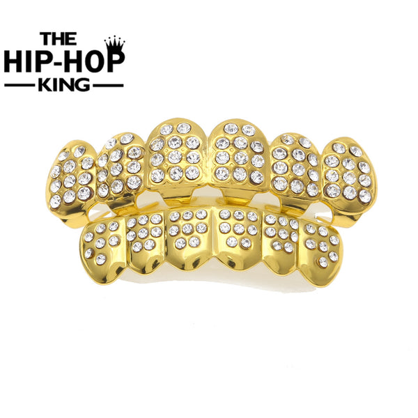 Bling Gold/Silver Color Iced Out CZ Teeth GRILLZ