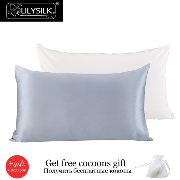 00% Pure Mulberry Silk Pillowcase with Cotton Terse Pillow Cover for Hair with Hidden Zipper Hypoallergenic