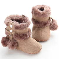 Cute Ball Winter Baby Boots
