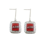 Delta Sigma Theta Sorority earrings