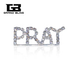 "Bling Rhinestone ""PRAY"" Word Pin for Believers"