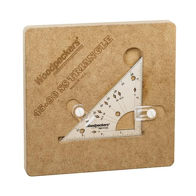 "Woodpeckers Woodpeckers 45-90 SS Triangle - OneTIME Tools -Retired, 45-90 SS Triangle 4"" - Ultimate Tools - 9"