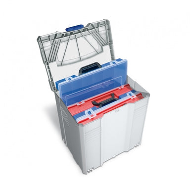 Tanos Organizer Box - Systainer T-Loc V with 2 Blue and 2 Red Organizer-Boxes