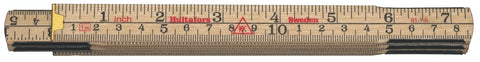 Hultafors Wooden Folding Rule 61 — 1m, 6 sections. HU-100704