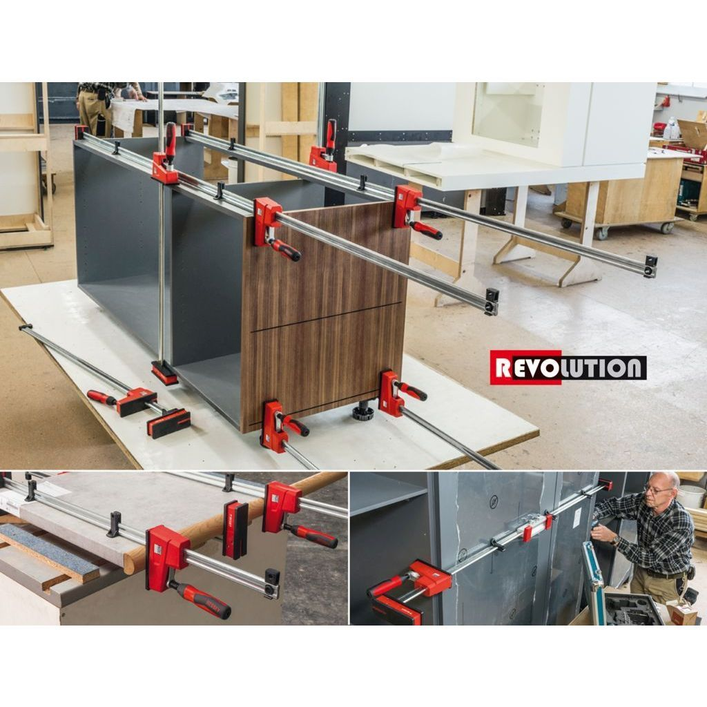 Bessey K Body REVOlution 1700 Pound Parallel Bar Clamps assembling and installing cabinets