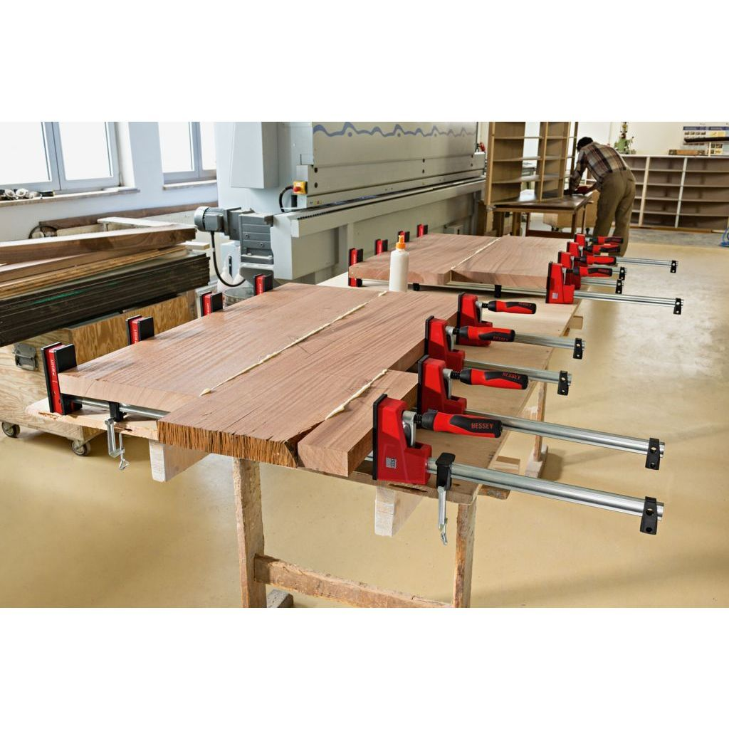 Bessey K Body REVOlution 1700 Pound Parallel Bar Clamps are precise and powerful enough for heavy-duty laminations