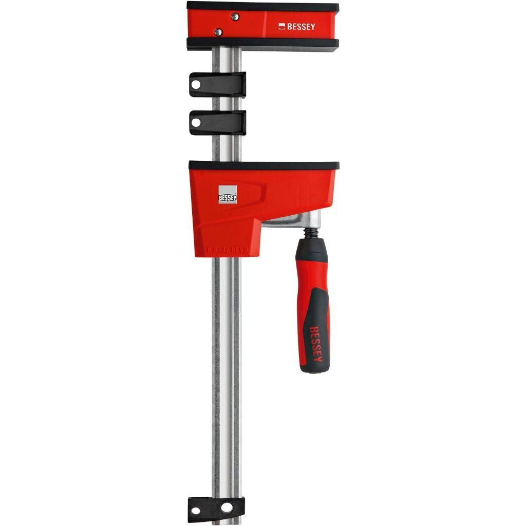 Bessey K Body REVOlution 1700 Pound Parallel Bar Clamp with Rail Protection Clips and Protective Pressure Caps