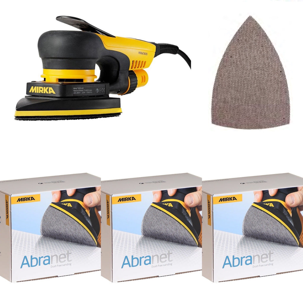 "DEOS Delta 6"" Pro Starter Kit w/3 Boxes of Abranet ACE Mesh Abrasives"