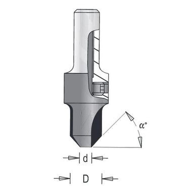 Dimar Carbide Tipped Hollow Countersink Bits for Pilot Bits
