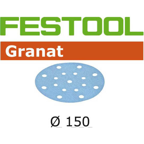 "Granat Abrasives for 150mm / 6"" Sanders - ETS-150, Rotex RO-150"