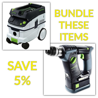 Bundle & Save! - CT 26 Dust Extractor + Festool BHC 18 SDS Rotary Hammer Drill | Basic